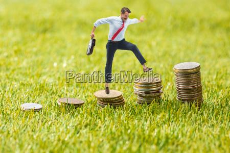 konzept des geschaefts und des geldwachstums