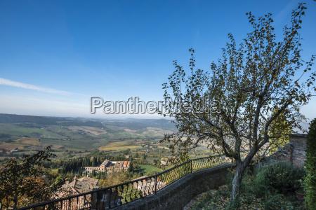italy tuscany montepulciano blue sky view