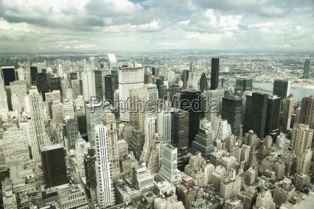 luftaufnahme der skyline von manhattan und