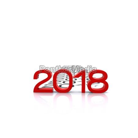 happy new year 2018 3d