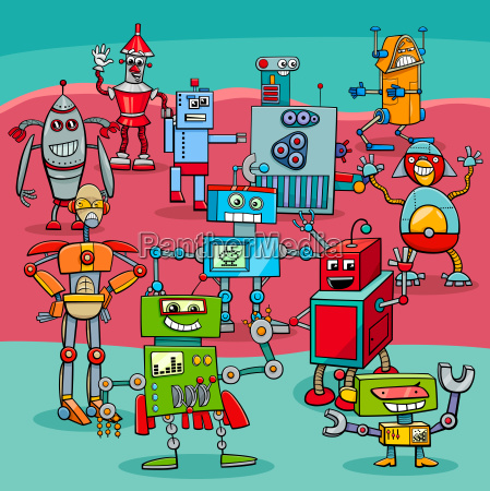 cartoon robot fantasy characters