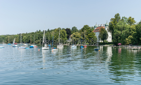 sailing boats on the lake