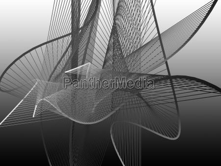 dynamische und helle linearspirale mit buntem