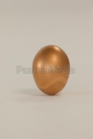 golden eastern egg on white background