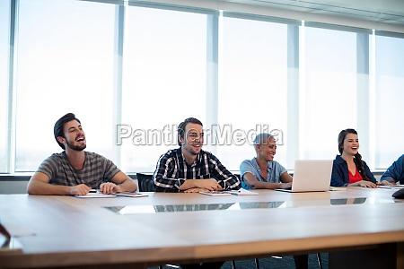 portrait creative business team in meeting