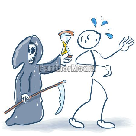 stick figure and death