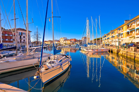 town of grado colorful waterfront and