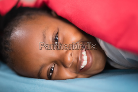 close up of girl lying on