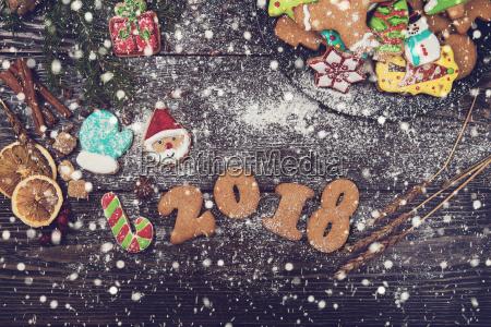 lebkuchen fuer silvester und weihnachten