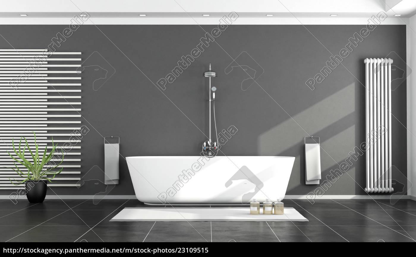Lizenzfreies Bild 23109515 - schwarz weiß modernes badezimmer