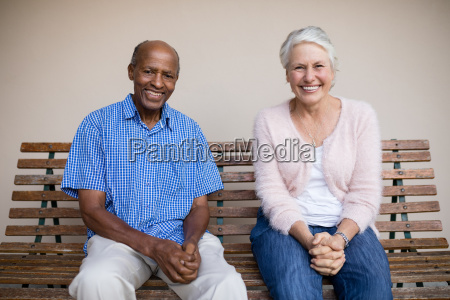 portrait of smiling senior woman and
