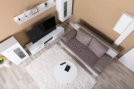 high angle view wohnzimmer
