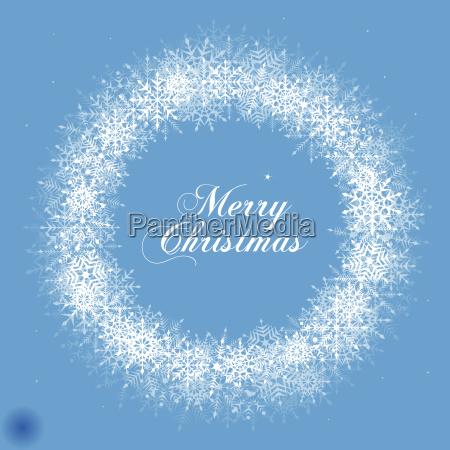 weihnachten schneeflocke kranz illustration