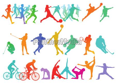 sport kollektion und freizeit isoliert