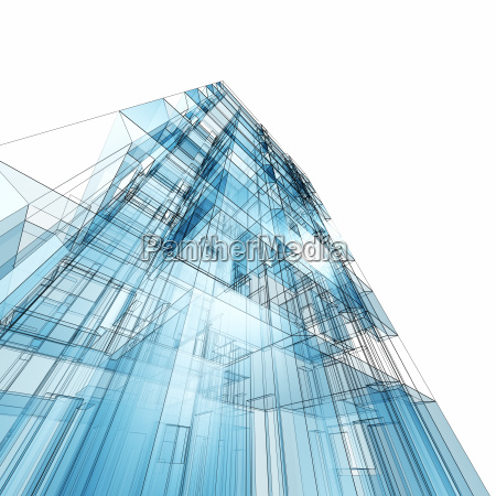 abstract building 3d rendering
