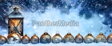 winter light and christmas balls