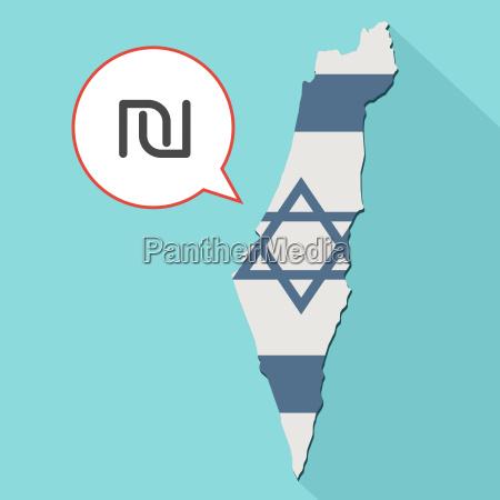animation einer langen schatten israel karte