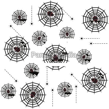 erstellt halloween gift spinnen abstrakte hintergrund