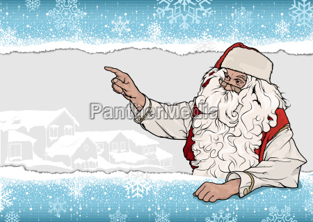 snowflake background with santa claus