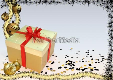weihnachten hintergrund mit goldenen ornamenten