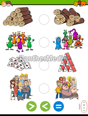 greater less or equal cartoon puzzle