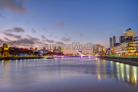 puerto madero in buenos aires in