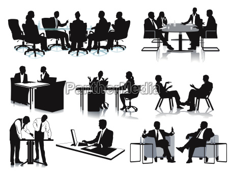 business meeting discussion illustration