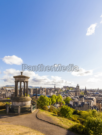 uk scotland edinburgh calton hill dugald
