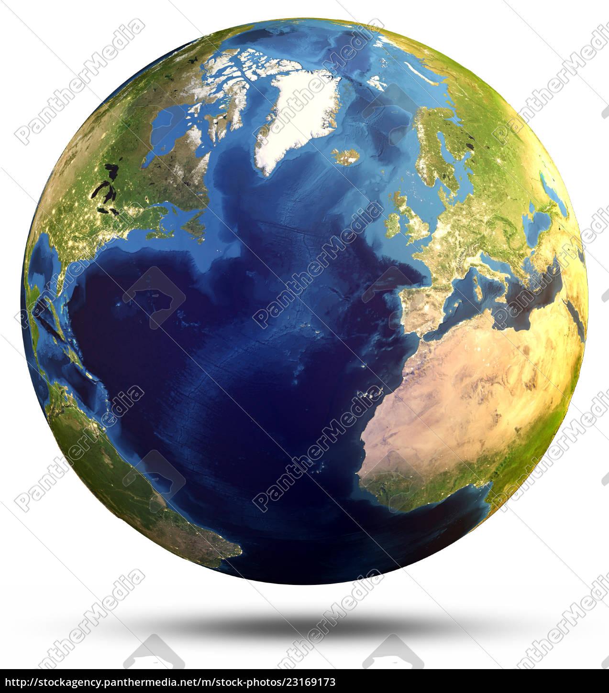 Globus Karte.Lizenzfreies Bild 23169173 Planet Globus Karte 3d Rendering