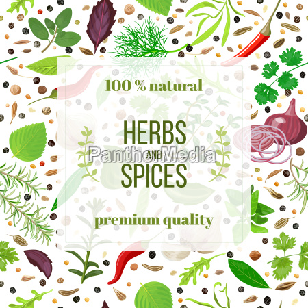 cooking herbs and spices seamless pattern
