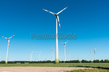 wind turbines in agricultural areas in