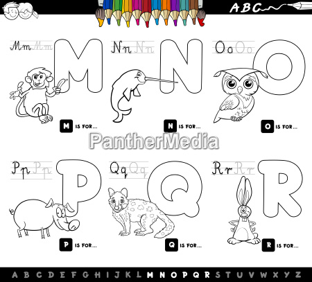color book educational cartoon alphabet letters