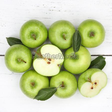 AEpfel apfel gruen obst quadratisch frucht