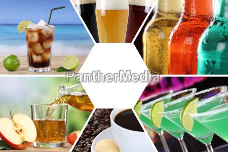 getraenke karte getraenkekarte sammlung collage trinken