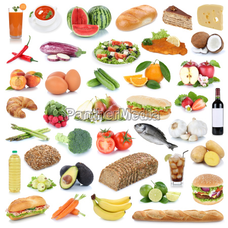 food collection background healthy food fruit