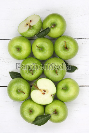 apples apple green fruit high edge
