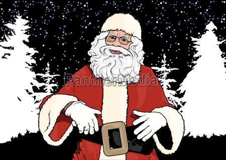 santa claus and winter background