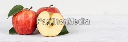 AEpfel apfel rot geschnitten obst frucht
