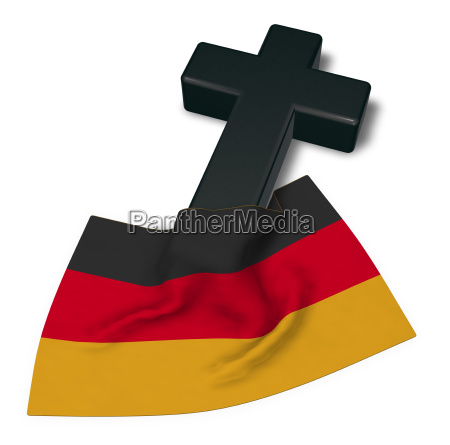 christian cross and flag of the
