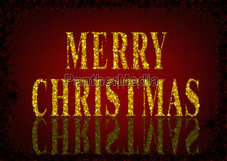 red merry christmas greeting