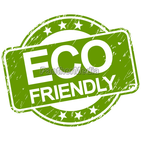 green scratched stamp eco friendly