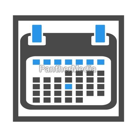 kalender icon im kasten