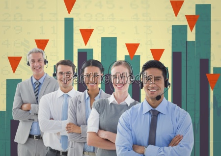 business team standing in front of