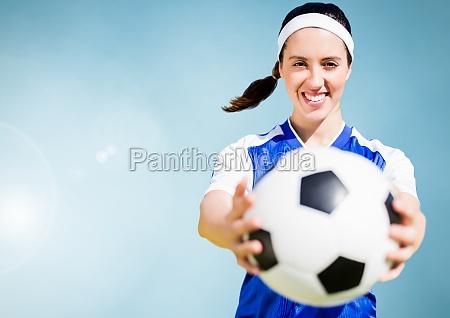 imagen compuesta de una mujer deportiva