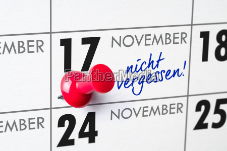wall calendar november 17