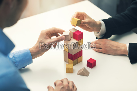 business cooperation and partnership concept