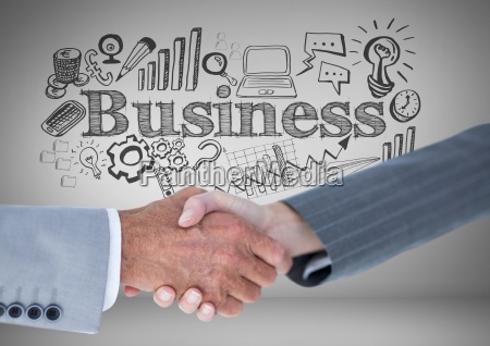 handshake of business people with business