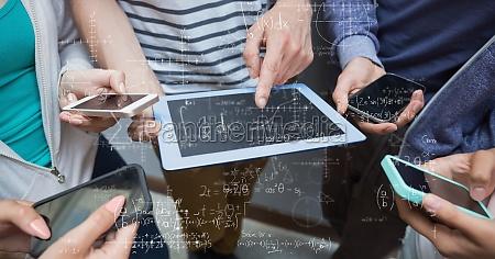 digitales, zusammengesetztes, bild, von, den, studenten, die - 23243741