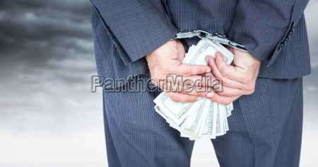 close up of business mans hands