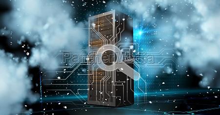 digitales, zusammengesetztes, bild, des, servers, mit - 23244007